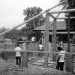 Building the Round House in 1965