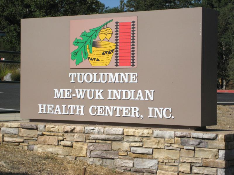 Tuolumne Me-Wuk Indian Health Center Sign