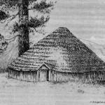 Indian Round House Illustration
