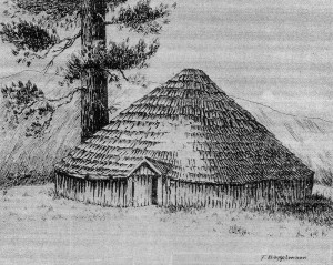 Indian Round House Illustration