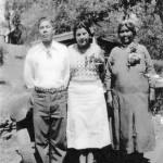 Leland Cox, Rose Colb, Lena Cox at the Tuolumne Rancheria