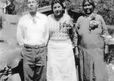 Leland Cox, Rose Colb, Lena Cox at the Tuolumne Rancheria