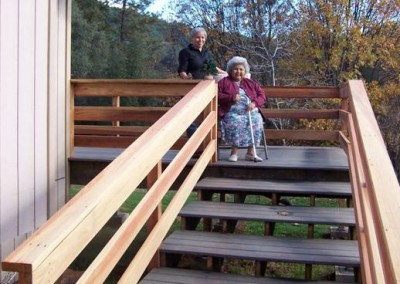 New deck for Elder Mildred Hawkins.