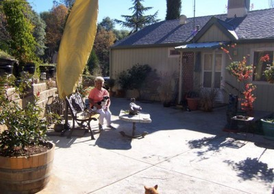 Elder Phyllis Montgomery on her new patio