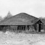 Round House (side view) - Tuolumne Rancheria 1947