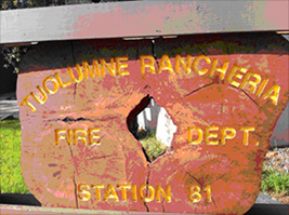 Tuolumne Rancheria Fire Dept. Station 81 Sign