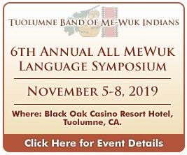 Tuolumne Me-Wuk Language Symposium November 2019